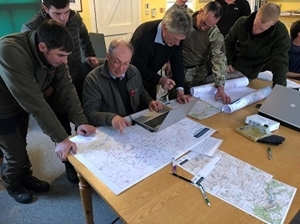 Mountain hare count site mapping session in full swing