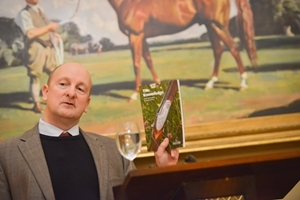 GWCT Head Advisor Roger Draycott gave a fascinating talk at the Gunsmiths' Evening. The Knowledge is a recommended shooting and conservation guide published by the GWCT. Photocredit: Helen Tinner