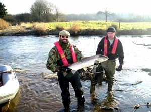 Bill and Luke with caught salmon