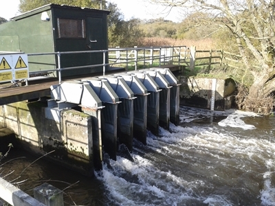 The salmon counter at East Stoke