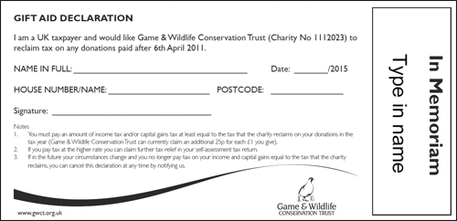 In Memoriam Donations Game And Wildlife Conservation Trust Interesting In Memoriam Of A Loved One