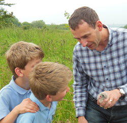 Bird ringing is a great way to enthuse children about wildlife.