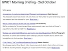 Coming soon: the GWCT Morning Briefing