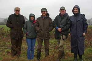 Elizabeth Truss with representatives from Selborne, Natural England and the GWCT