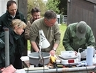 Environment Agency visits GWCT Fisheries team
