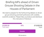 Help us brief MPs before the Westminster debate on driven grouse shooting