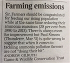 Farming emissions: our letter in The Times