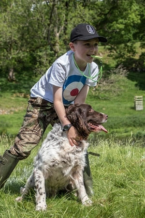 Gun dog scurries were one of the many sporting challenges at the Levens Team Challenge, which has raised over £7,000 for charity. Photocredit: Tom Sykes