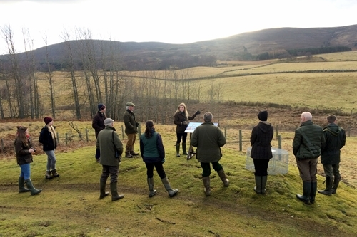 Marlies Nicolai leads the Bird ID Day at Auchnerran