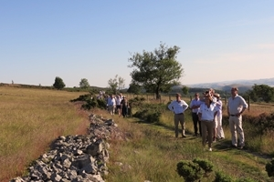 Around 60 people took part on the Curlew Country Project walk on the Stiperstones