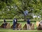 Charity clay pigeon shoot day in historic grounds